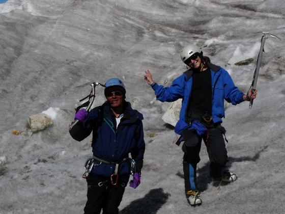 Caro glacier bas du huayna potosi